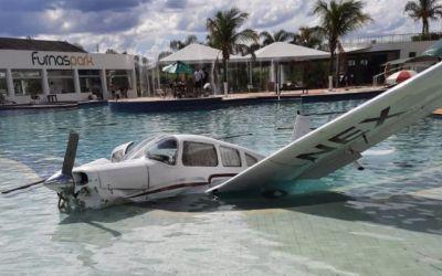 Samu atende vítimas de queda de avião no Resort Furnas Park em Formiga